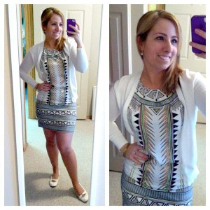 White Aztec Dress
