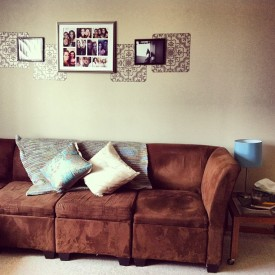Brown Suedette Couch