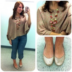 Rose Sparkle Poncho