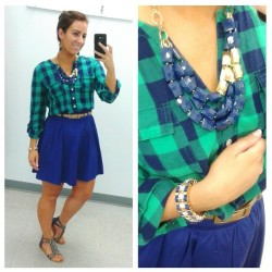 bluegreenplaidskirt
